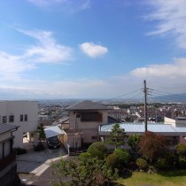 富士の夜景も一望