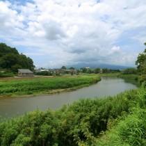 目線の先には富士山が